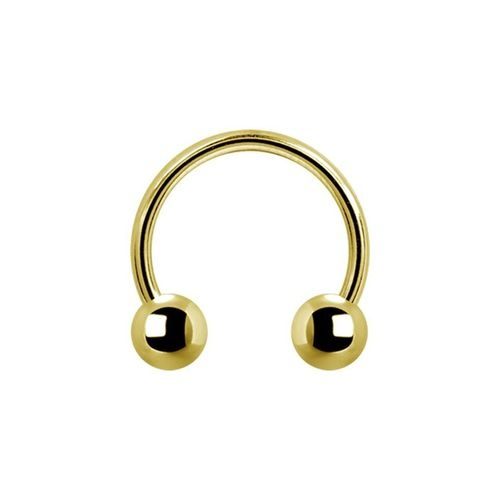 Gold Steel Circular Barbell 14 GA